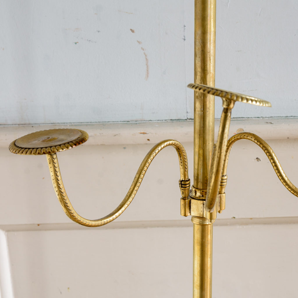 Edwardian brass and mahogany shop-display hat stand,-137405