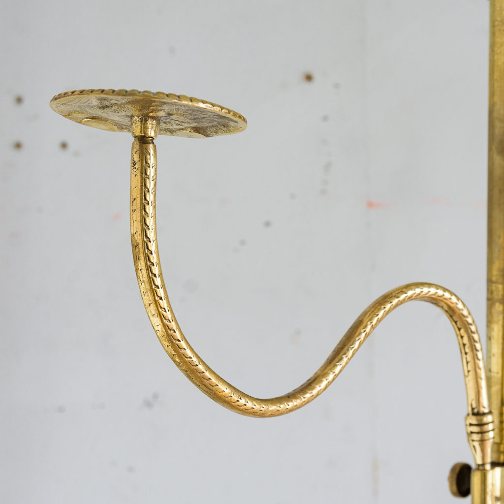 Edwardian brass and mahogany shop-display hat stand,-137399