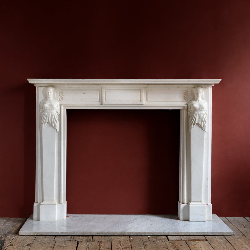 Regency Statuary marble fireplace,