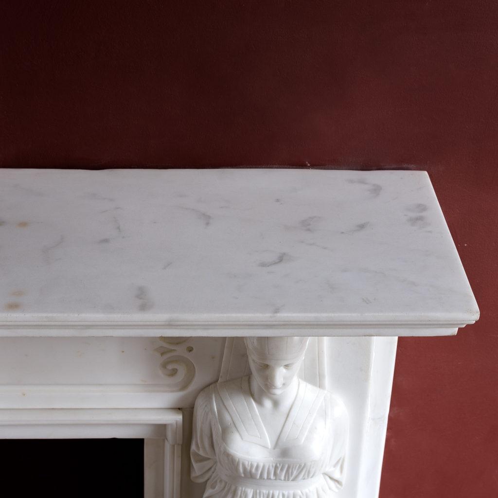 Regency Statuary marble fireplace, -137385