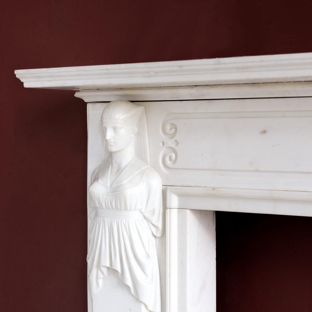Regency Statuary marble fireplace, -137374
