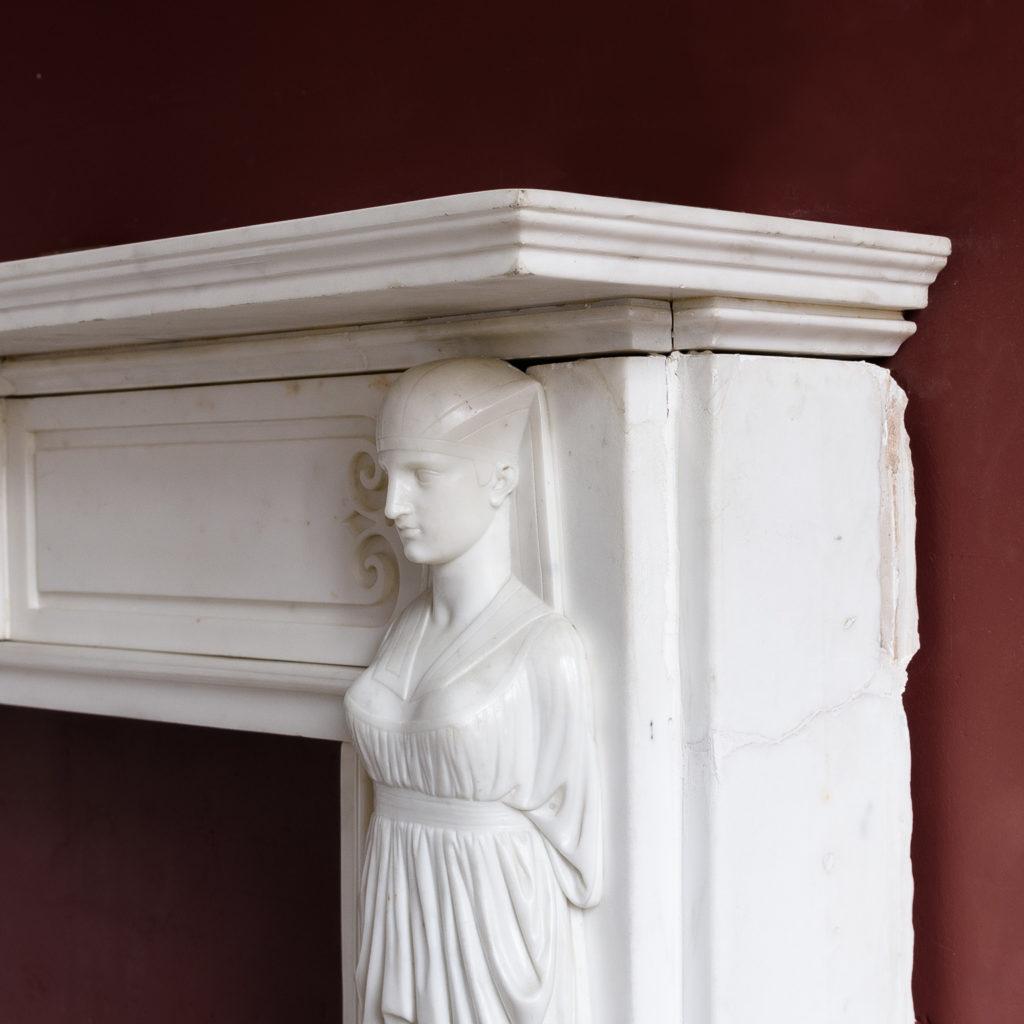 Regency Statuary marble fireplace, -137376