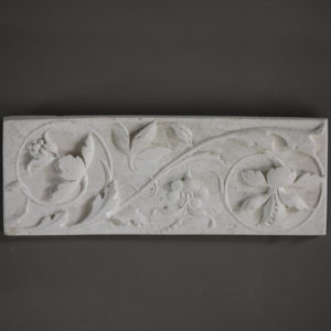 scolling flowers plaque