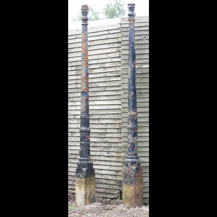 pair of lamp posts