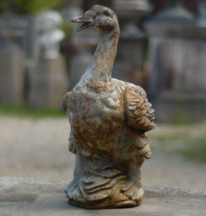 A French cast iron figure of a goose-138149
