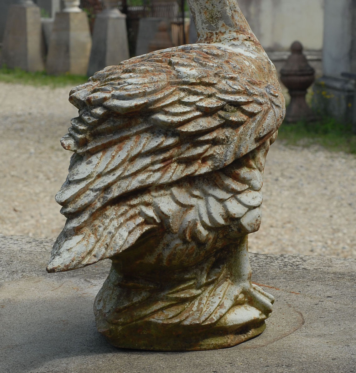 A French cast iron figure of a goose-138151