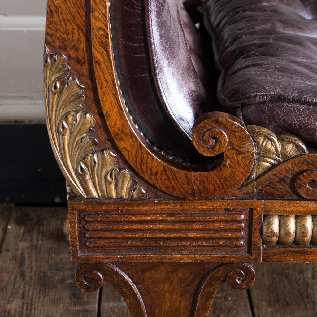 Regency faux-rosewood parcel-gilt daybed,-137705