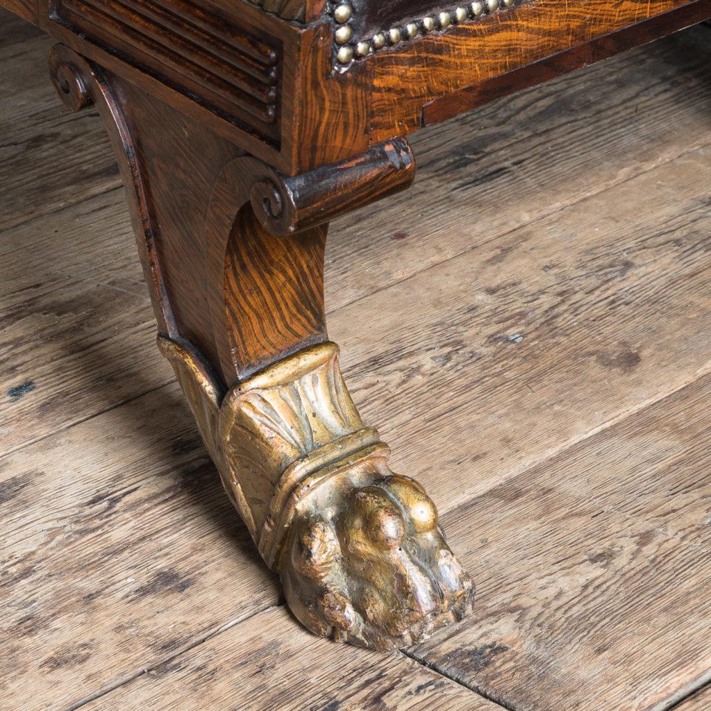 Regency faux-rosewood parcel-gilt daybed,-137707