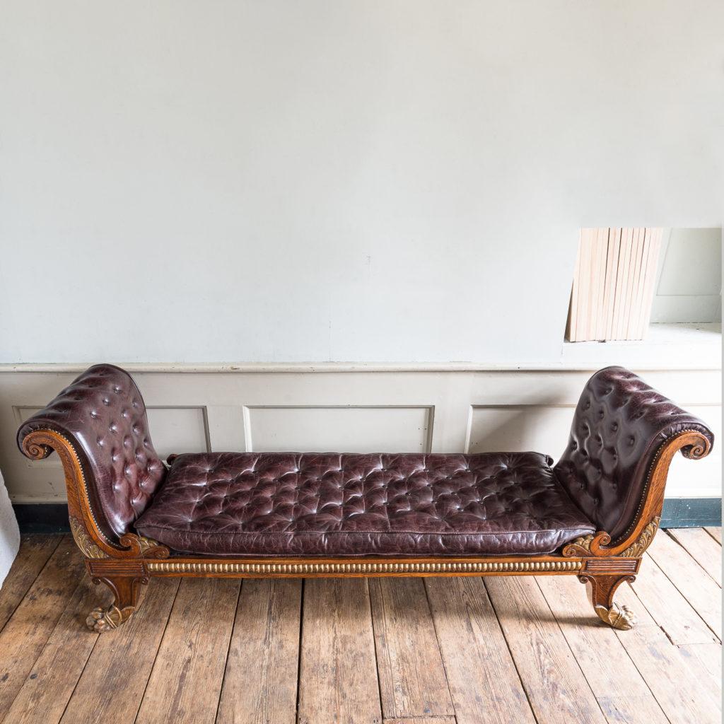 Regency faux-rosewood parcel-gilt daybed,-137711