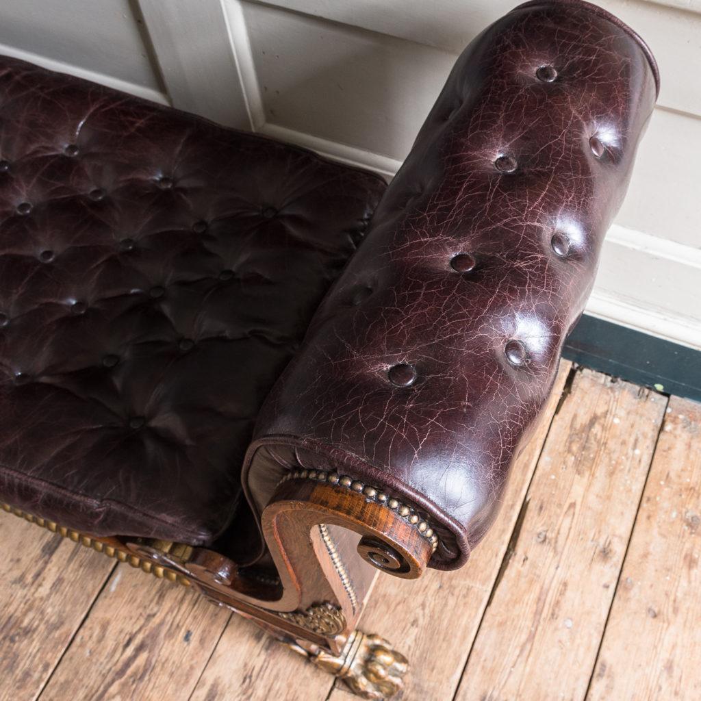 Regency faux-rosewood parcel-gilt daybed,-137712