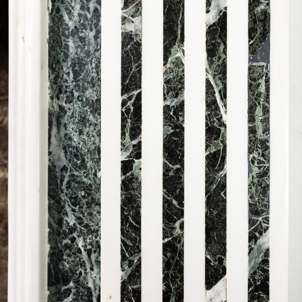 George III style Statuary and Verde Antico marble chimneypiece,-137839