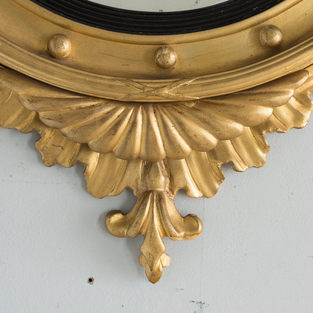 Regency style giltwood convex mirror, -137690