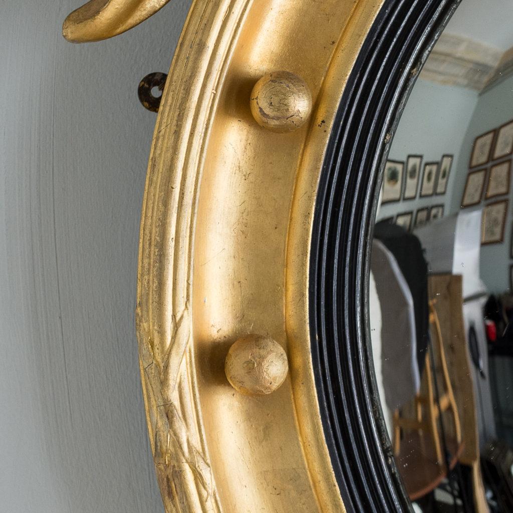 Regency style giltwood convex mirror, -137689
