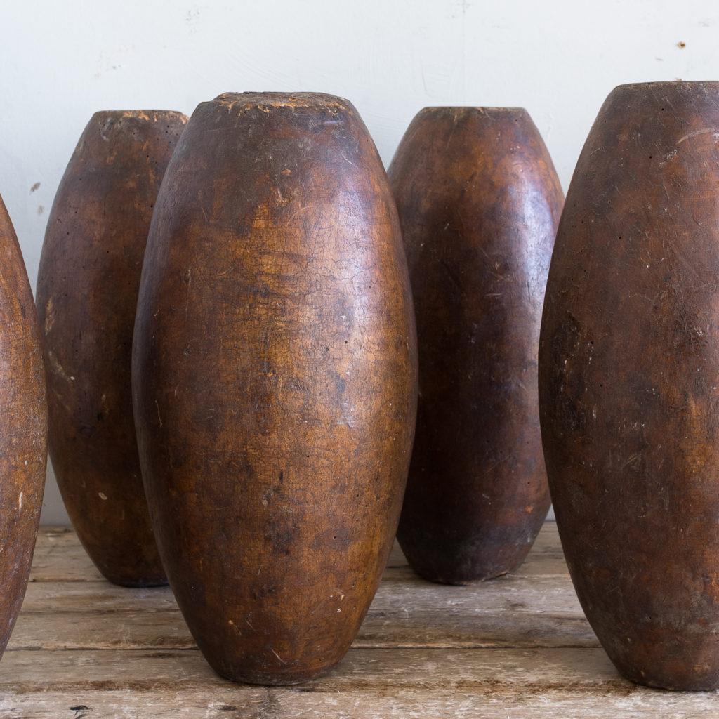 Set of six Victorian garden skittles,-138160