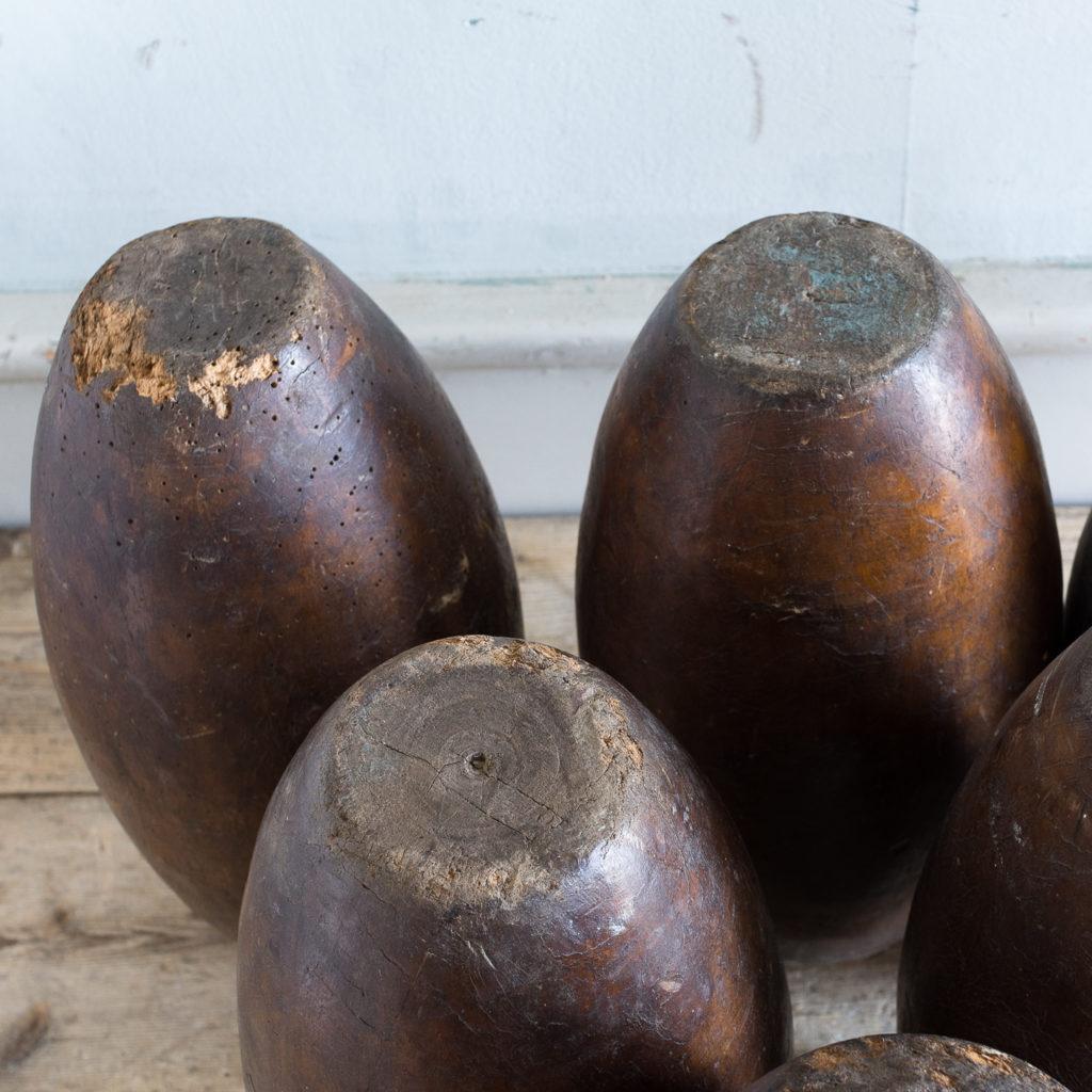 Set of six Victorian garden skittles,-138165