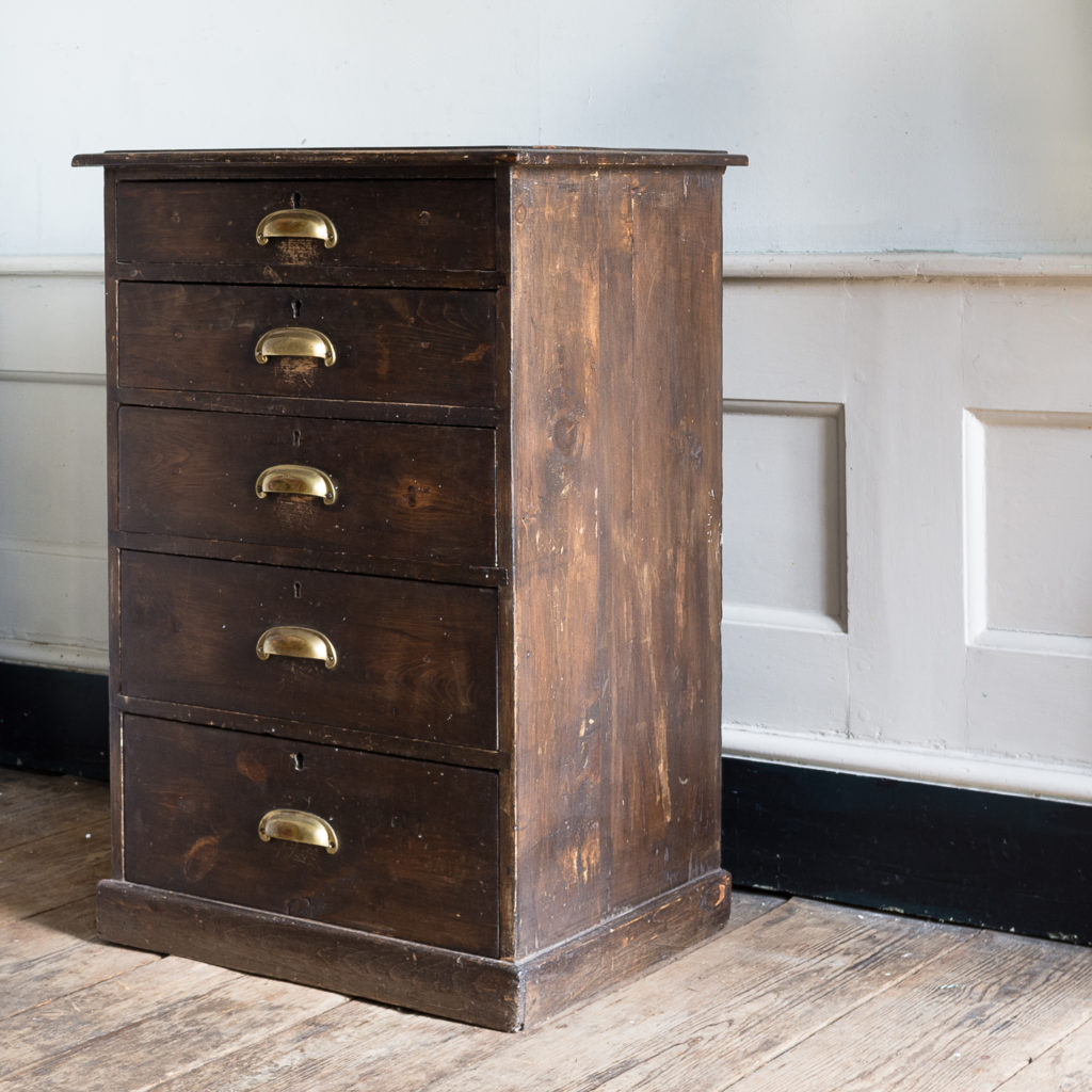Early twentieth century stained pine cabinet,