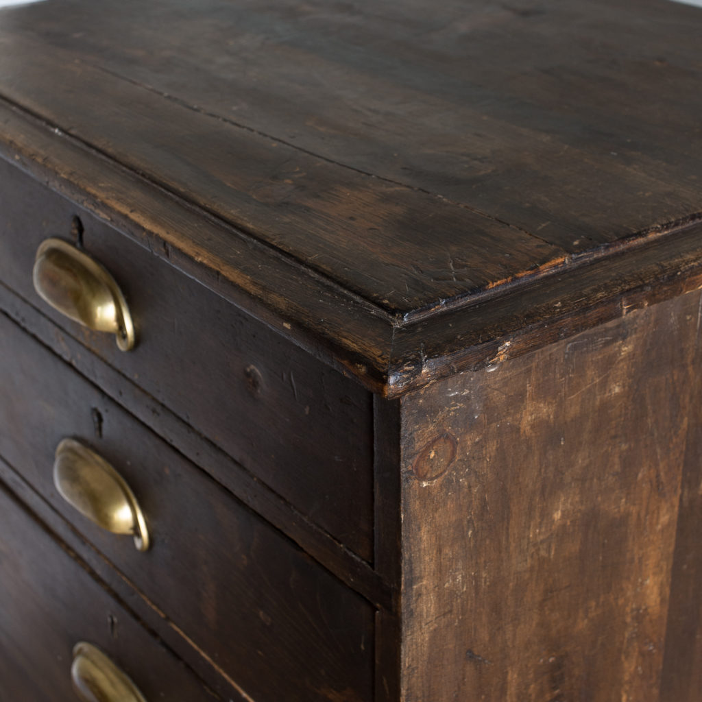 Early twentieth century stained pine cabinet,-138022