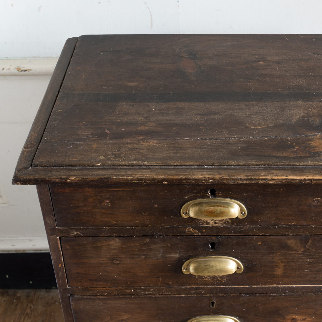 Early twentieth century stained pine cabinet,-138025