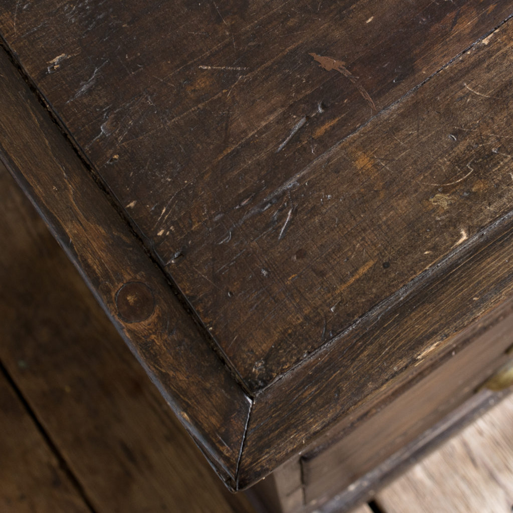 Early twentieth century stained pine cabinet,-138027