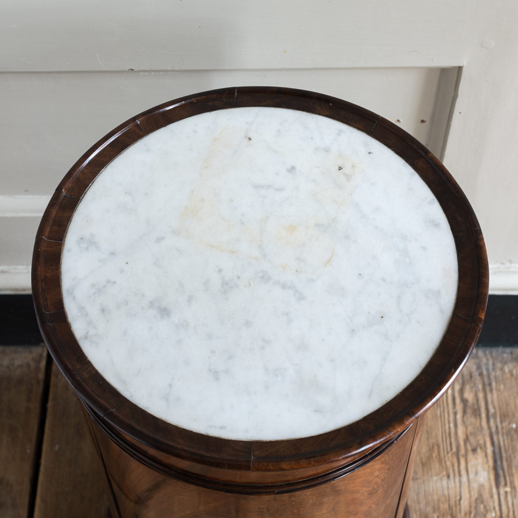inset marble top