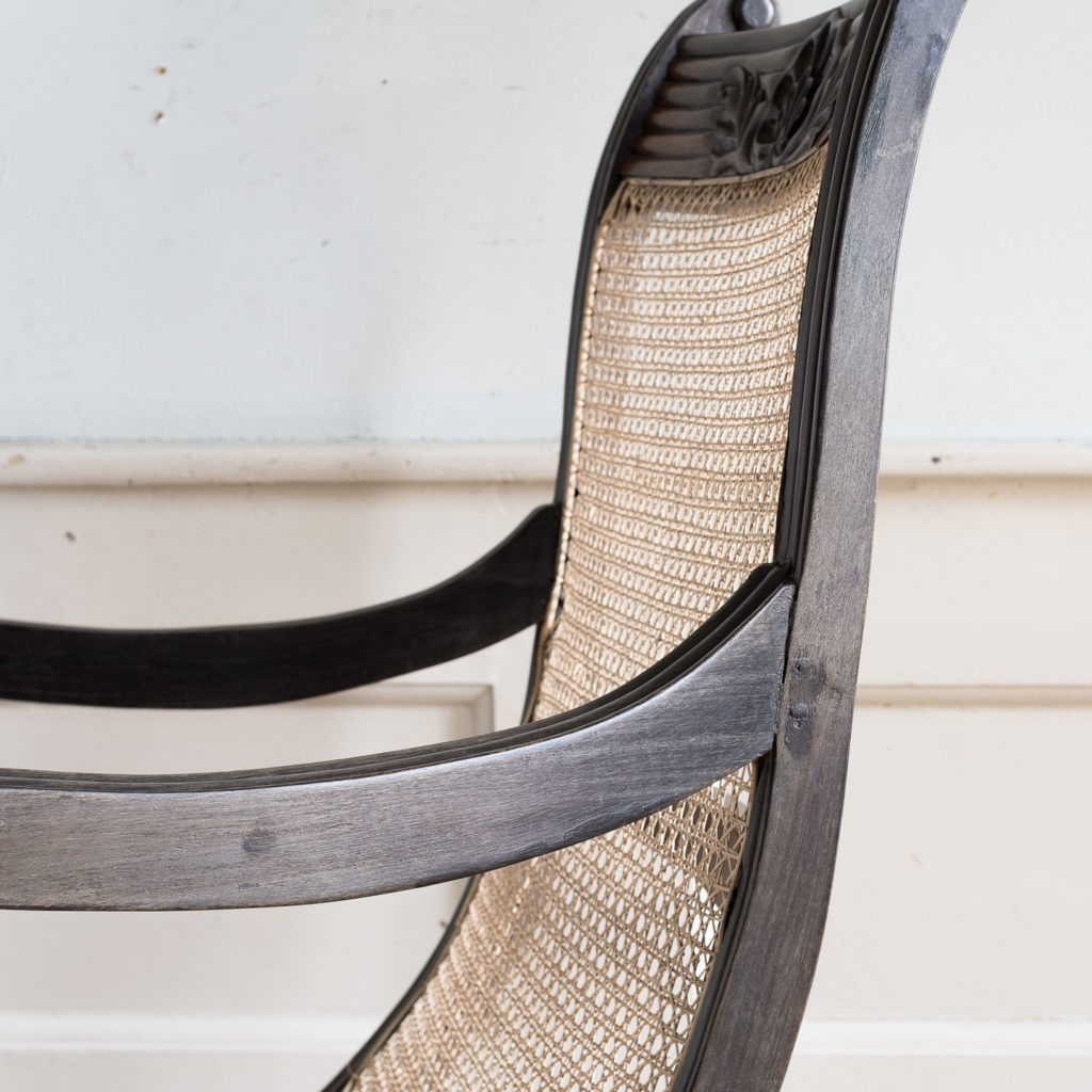 Early nineteenth century Ceylonese ebony armchair, -137870