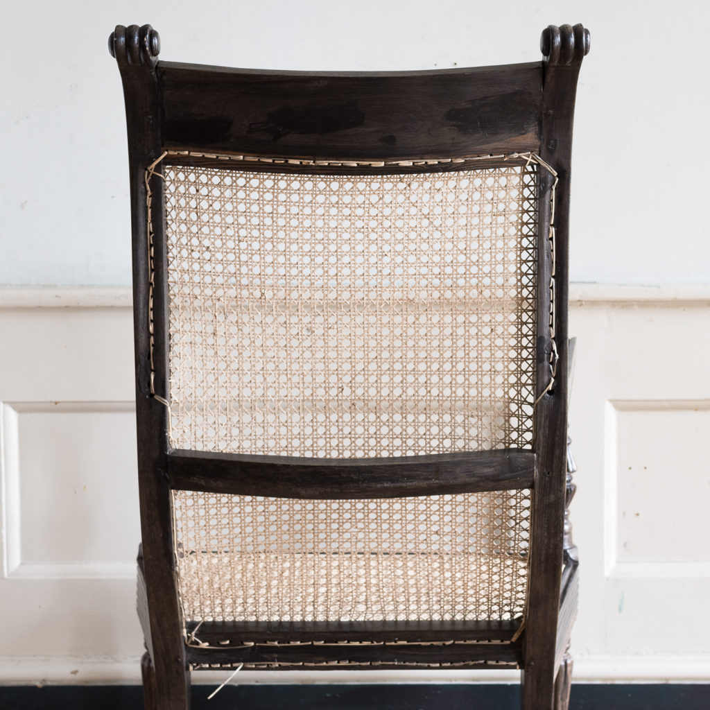 Early nineteenth century Ceylonese ebony armchair, -137871