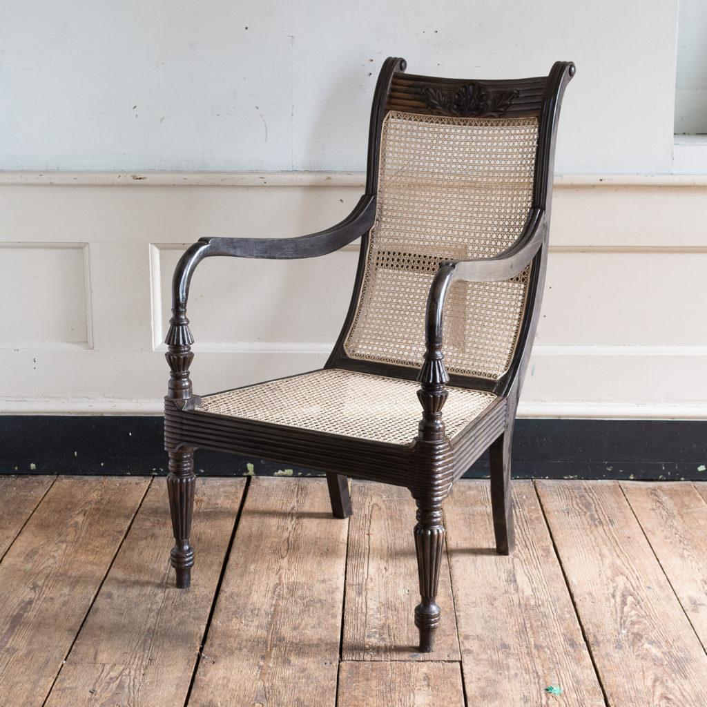Early nineteenth century Ceylonese ebony armchair,