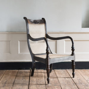 Early nineteenth century Ceylonese ebony armchair,