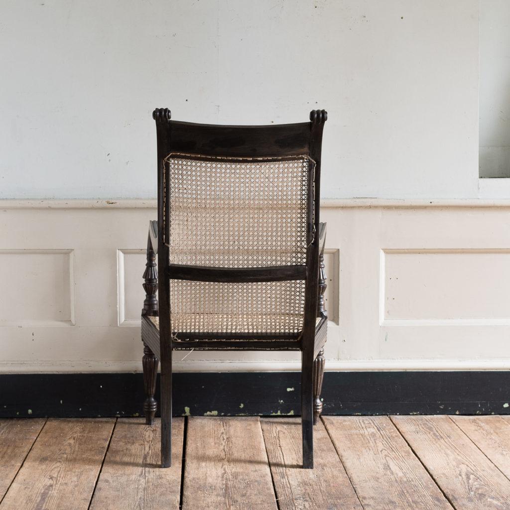 Early nineteenth century Ceylonese ebony armchair, -137864