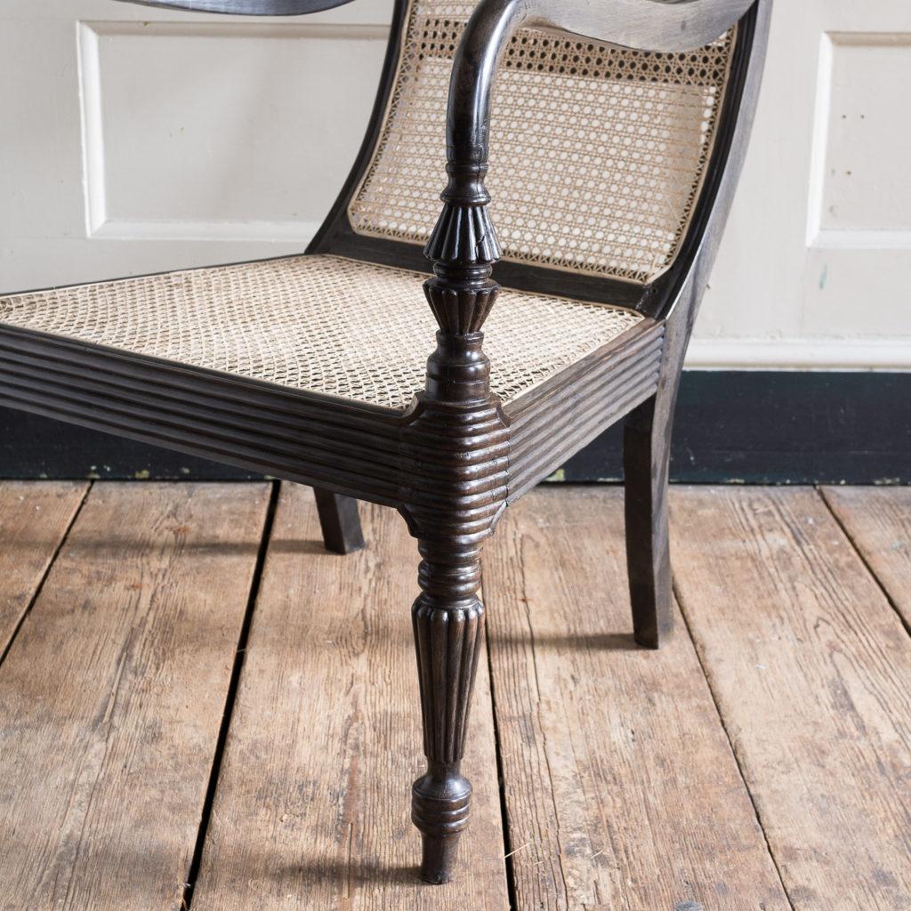 Early nineteenth century Ceylonese ebony armchair, -137869