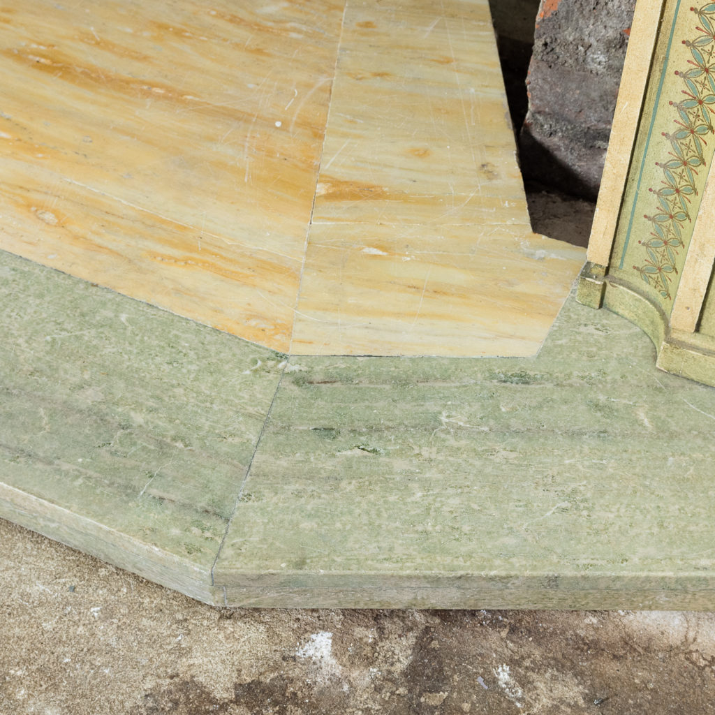 with Swedish Green and Sienna marble hearth