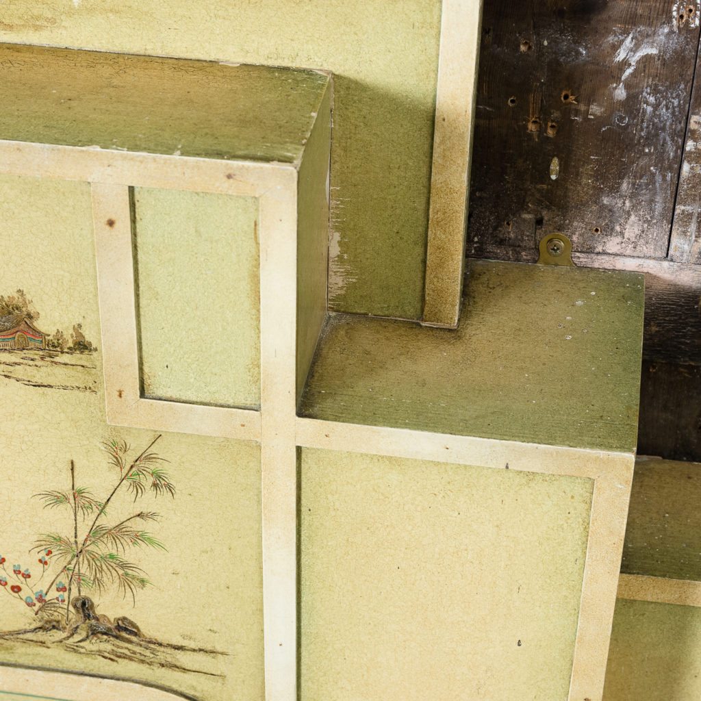 Chinoiserie Art Deco hand painted and parcel-gilt chimneypiece,-137614