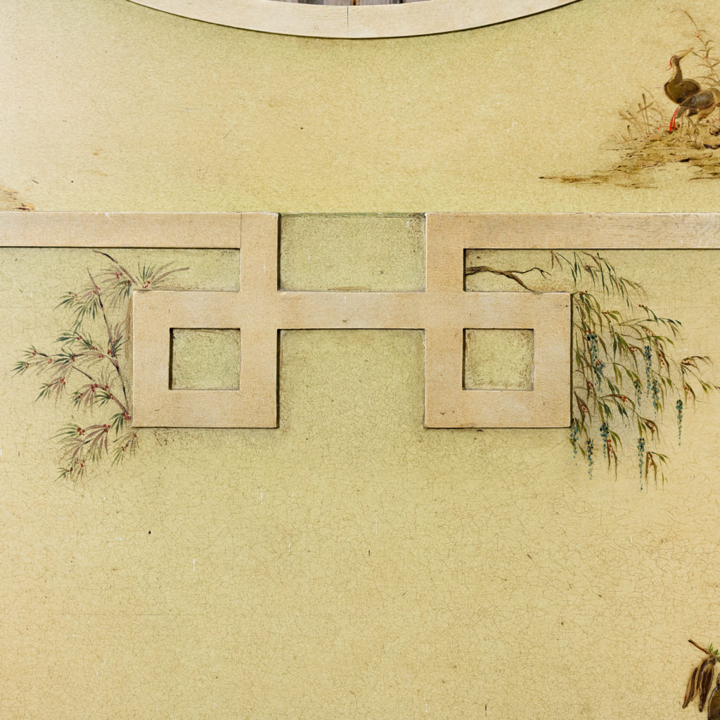 Chinoiserie Art Deco hand painted and parcel-gilt chimneypiece,-137600