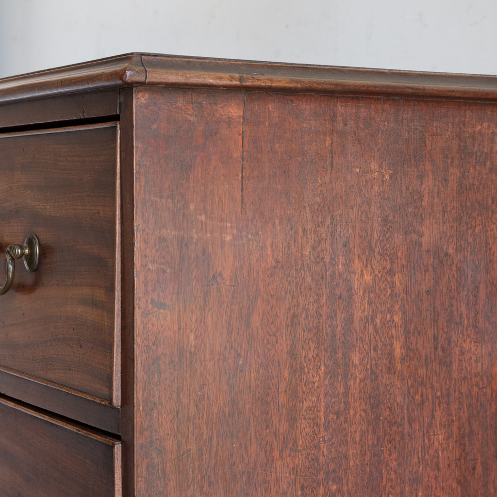 George III mahogany chest of drawers, -138102