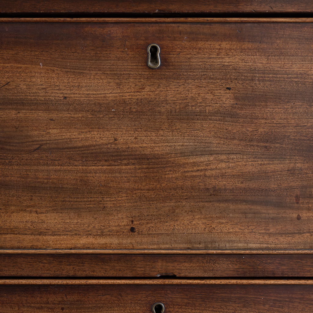 George III mahogany chest of drawers, -138106