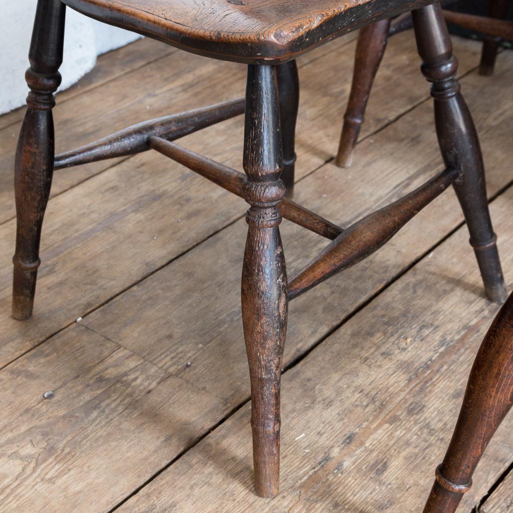 Set of four nineteenth century wheelback Windsor chairs,-137955