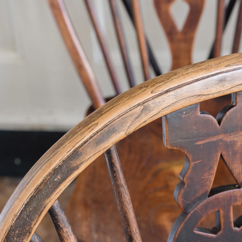Set of four nineteenth century wheelback Windsor chairs,-137959
