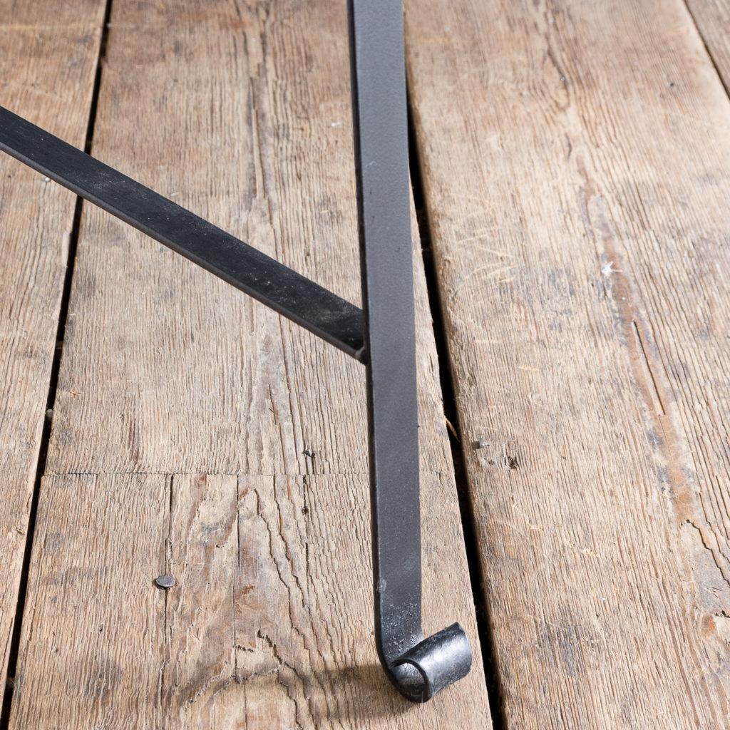 Regency style wrought iron garden bench,-138056