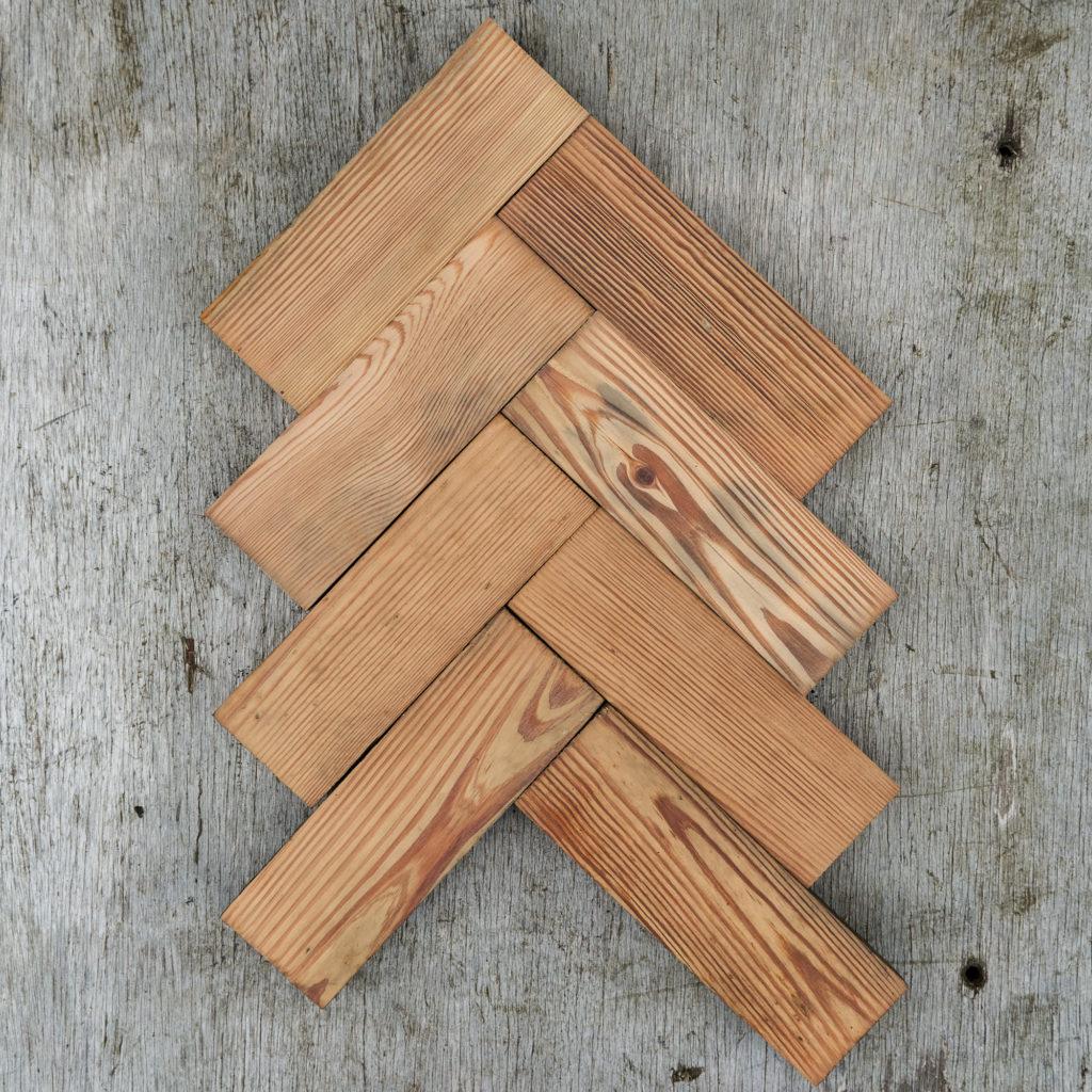 Reclaimed Pitch Pine Parquet block-0