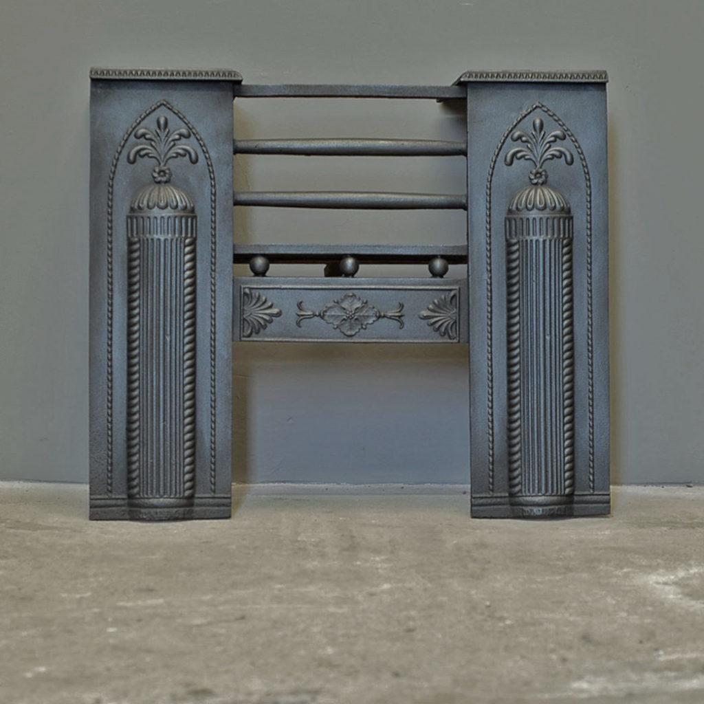 A cast iron Regency hob grate-0