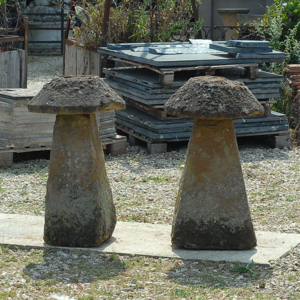 A good pair of ironstone staddle stones-138520