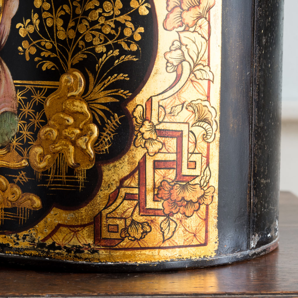 Pair of nineteenth century parcel-gilt tea canisters, -138339