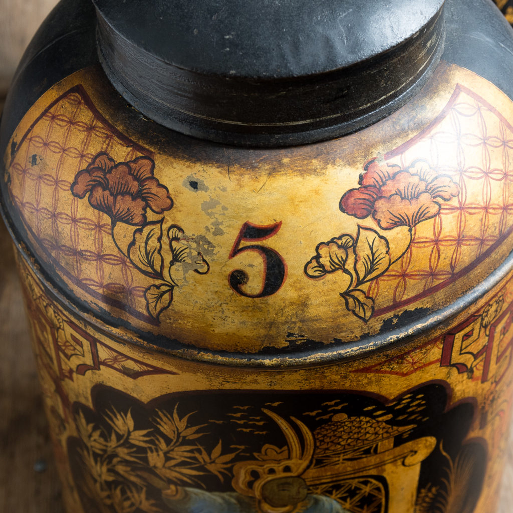 Pair of nineteenth century parcel-gilt tea canisters, -138344