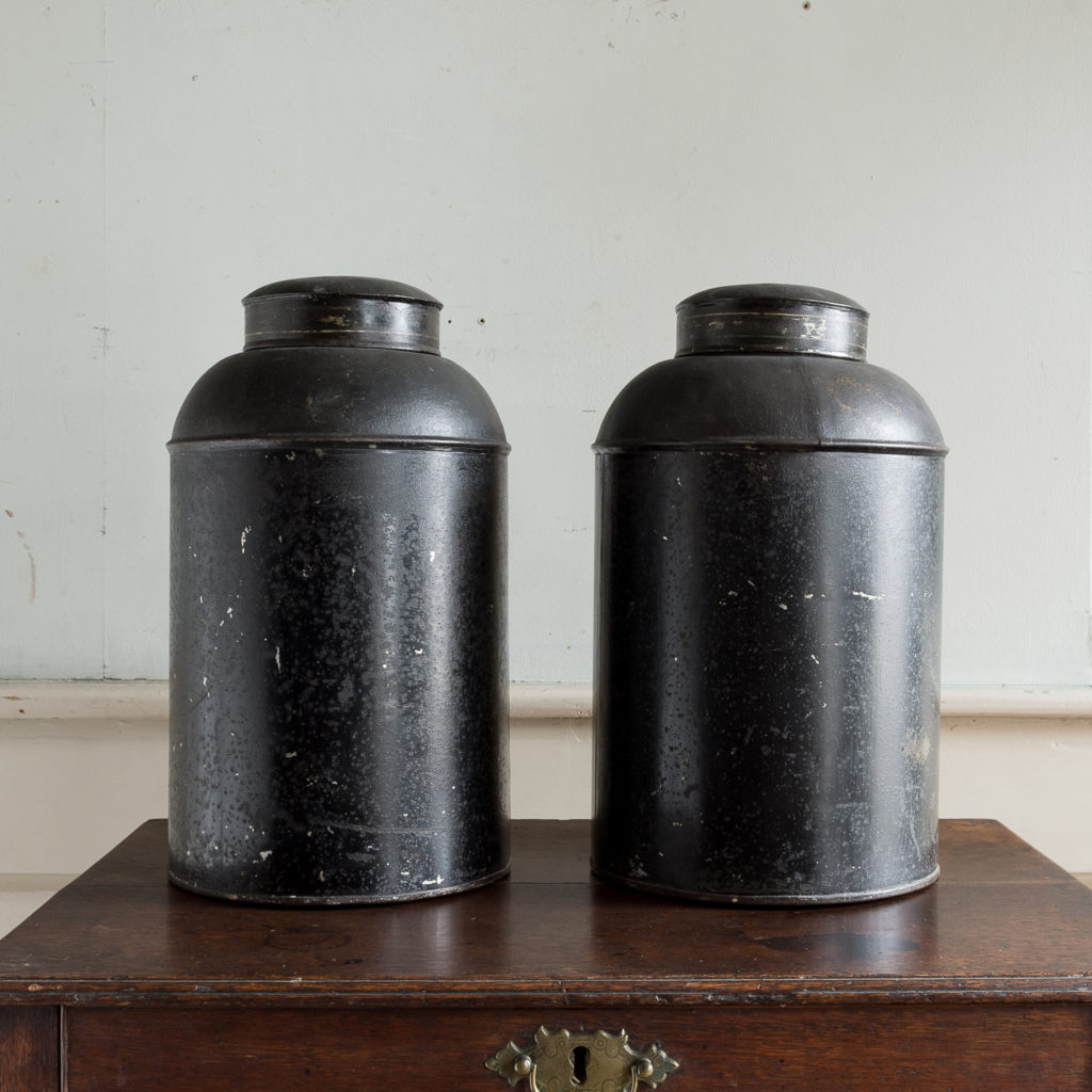 Pair of nineteenth century parcel-gilt tea canisters, -138330
