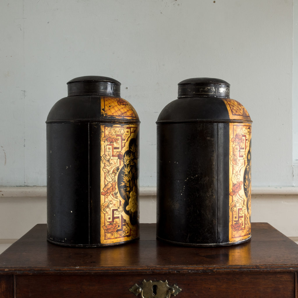 Pair of nineteenth century parcel-gilt tea canisters, -138333