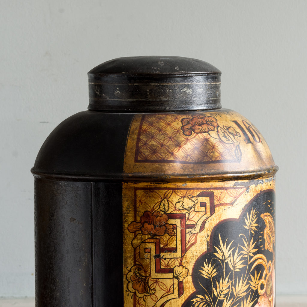 Pair of nineteenth century parcel-gilt tea canisters, -138335