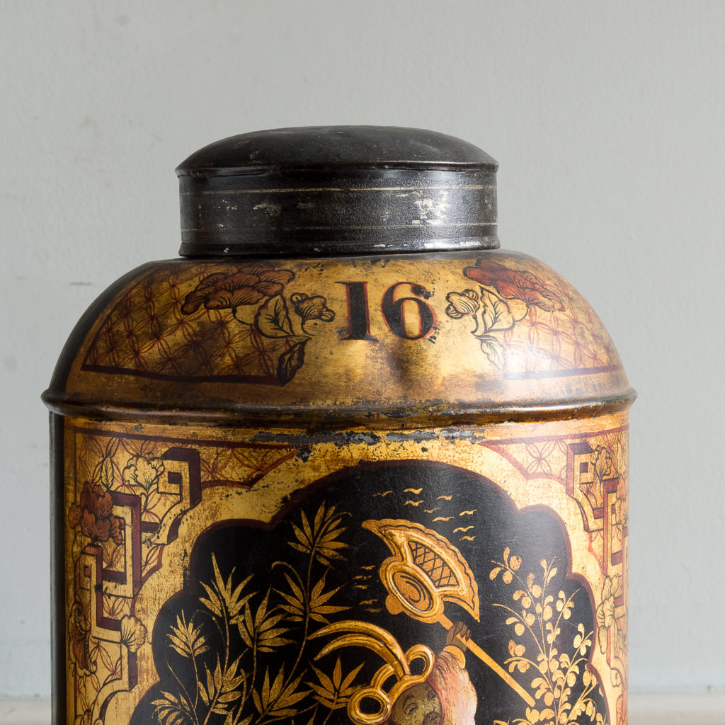 Pair of nineteenth century parcel-gilt tea canisters, -138336