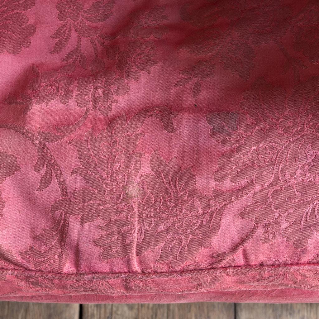 George III mahogany wingback armchair,-138262