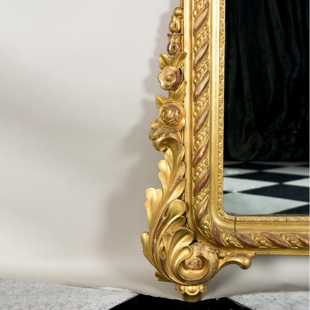 Large nineteenth century French giltwood mirror,-138687