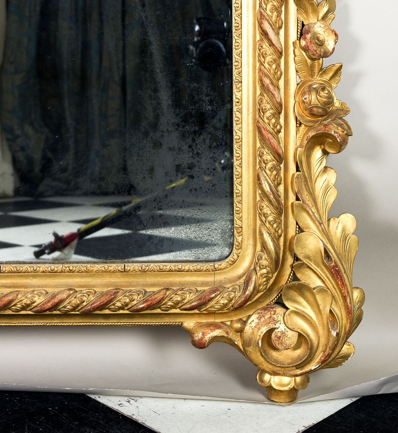 Large nineteenth century French giltwood mirror,-138690